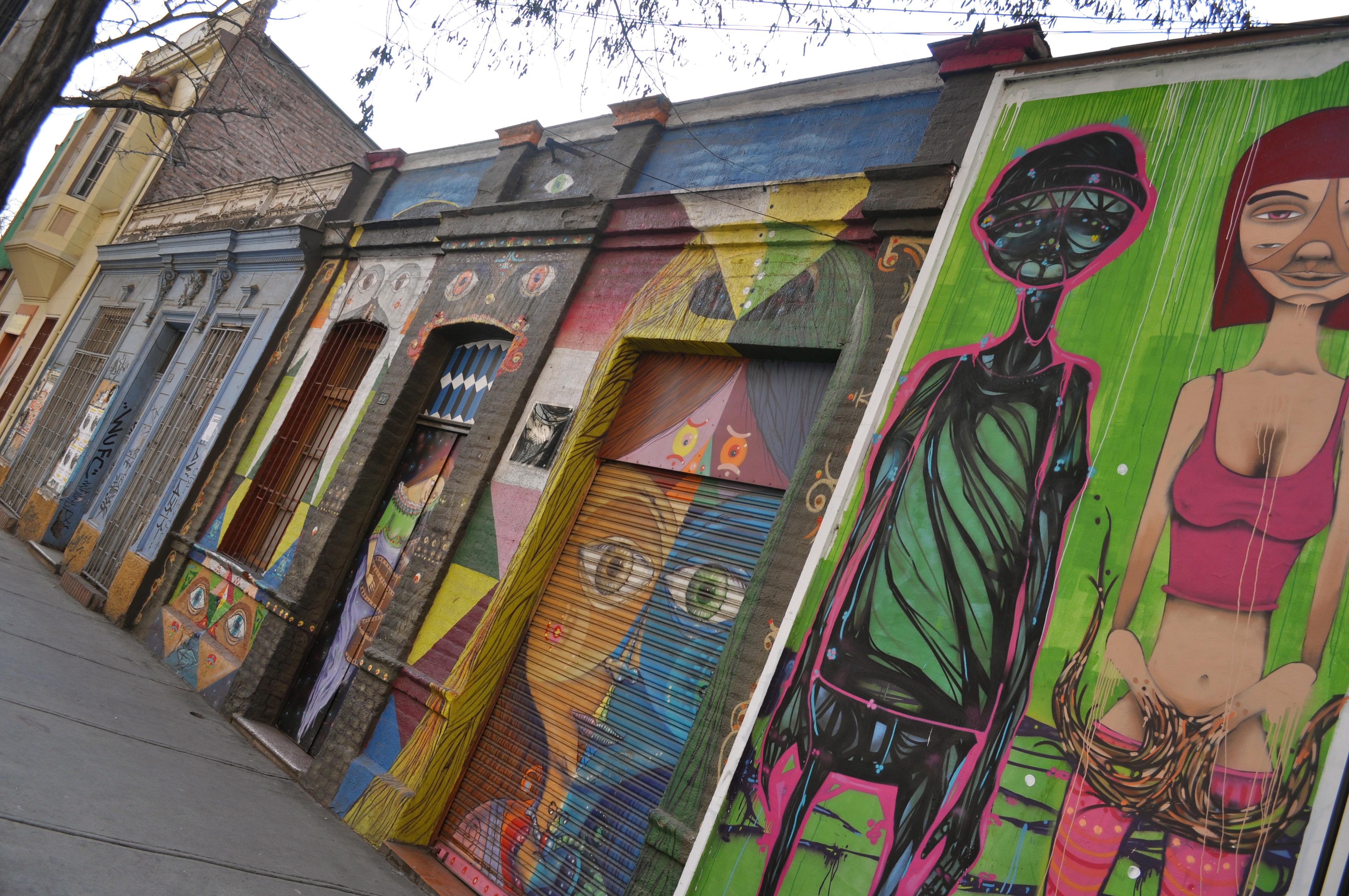 Santiago along the way for Carpenter papel mural santiago chile