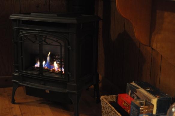 Wood stove = heaven