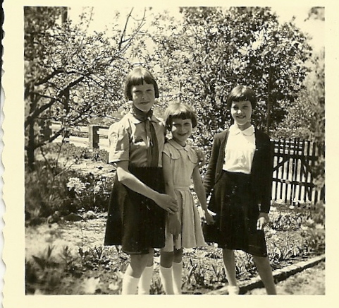 From left to right: my mama, Gertrud and my godmother as girls